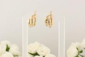Златни обеци от жълто злато с циркони OB0034V