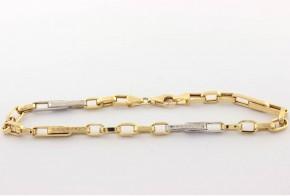 Златна  гривна от бяло и жълто златo GR0166