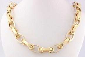 Златен синджир от бяло и жълто злато C0114