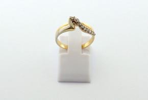 Дамски пръстен от жълто злато с циркон DD0213
