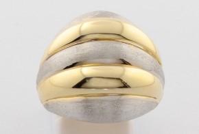 Дамски пръстен от бяло и жълто злато DD0118
