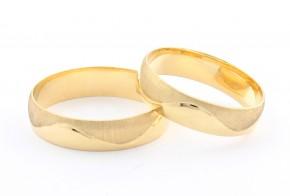 Брачни халки от жълто злато BH0293