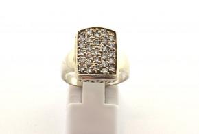 Дамски сребърен пръстен  с циркони SD0178