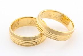 Брачни халки от жълто злато BH0283
