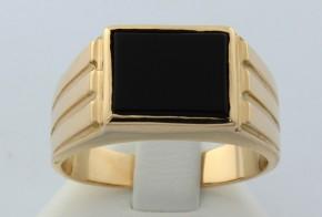 Мъжки пръстен от жълто злато MD0002
