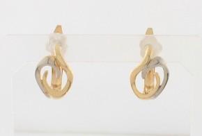 Златни обеци от бяло и жълто злато OB0173