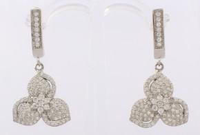 Сребърни обеци с циркони SO0017
