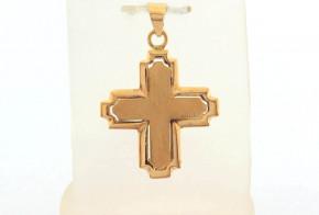 Златен кръст от жълто злато VKN0065