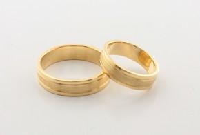 Брачни халки от жълто злато BH0219