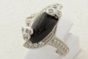 Дамски сребърен пръстен с циркони SD0133
