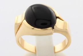 Мъжки пръстен от жълто злато MD0010