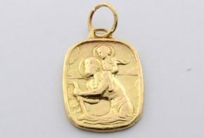 Златна висулка от   жълто злато  V0032