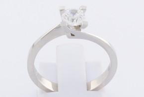 Годежен пръстен от бяло злато с циркон GD0124