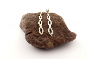 Сребърни обеци с диаманти SO0139