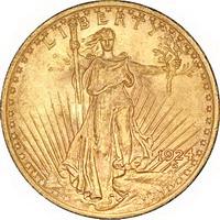 Златна монета 20 АМЕРИКАНСКИ ДОЛАРА