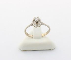 Годежен пръстен от бяло   злато с циркон- 2,14 грама, размер 55