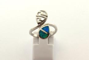 Дамски сребърен пръстен  с циркони SD0168