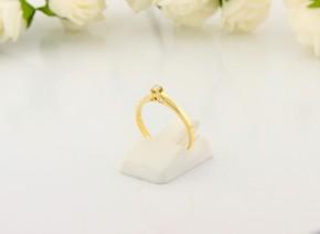 Годежен пръстен от жълто злато с диамант D2065