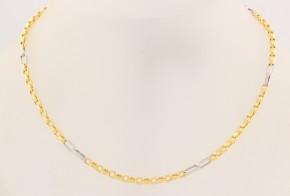 Синджир от бяло и жълто злато C0094