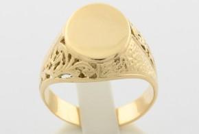 Мъжки пръстен от жълто злато MD0019