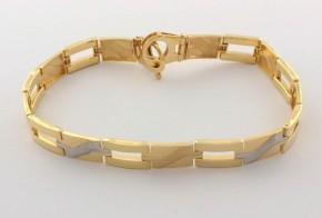 Златна  гривна от бяло и жълто златo GR0160