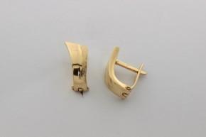 Дамски обeци от жълто злато - 2,68  грама, дължина на обецта   13  мм. ,ширина 4 мм.