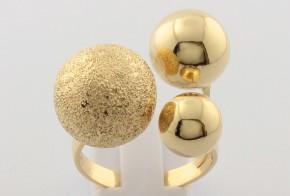 Дамски пръстен от жълто злато DD0148