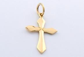 Златен кръст от  жълто злато VK0034