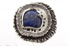 Дамски сребърен пръстен с  лазурит SD0028