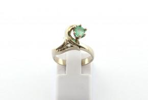 Годежен пръстен от бяло  злато с диамант D3086