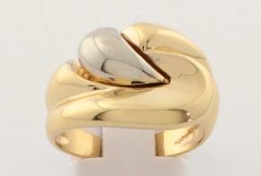 Дамски пръстен от бяло и жълто злато DD0183