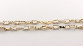 Златен синджир от бяло и жълто злато VC - С0010 - дължина 55см