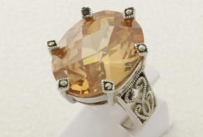 Дамски сребърен пръстен с циркон SD0087
