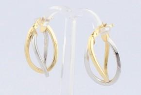 Златни обеци от бяло и жълто злато OB0137