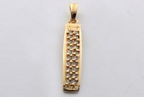 Златна висулка от   жълто злато  с циркони  V0021