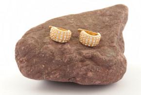 Златни обеци от жълто злато с циркони OB0184V