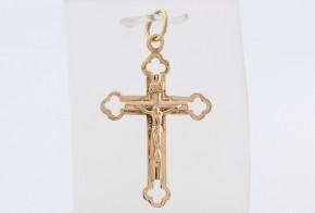 Златен кръст от жълто злато VK0093