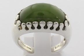 Сребърен пръстен с нефрит China CSD0038